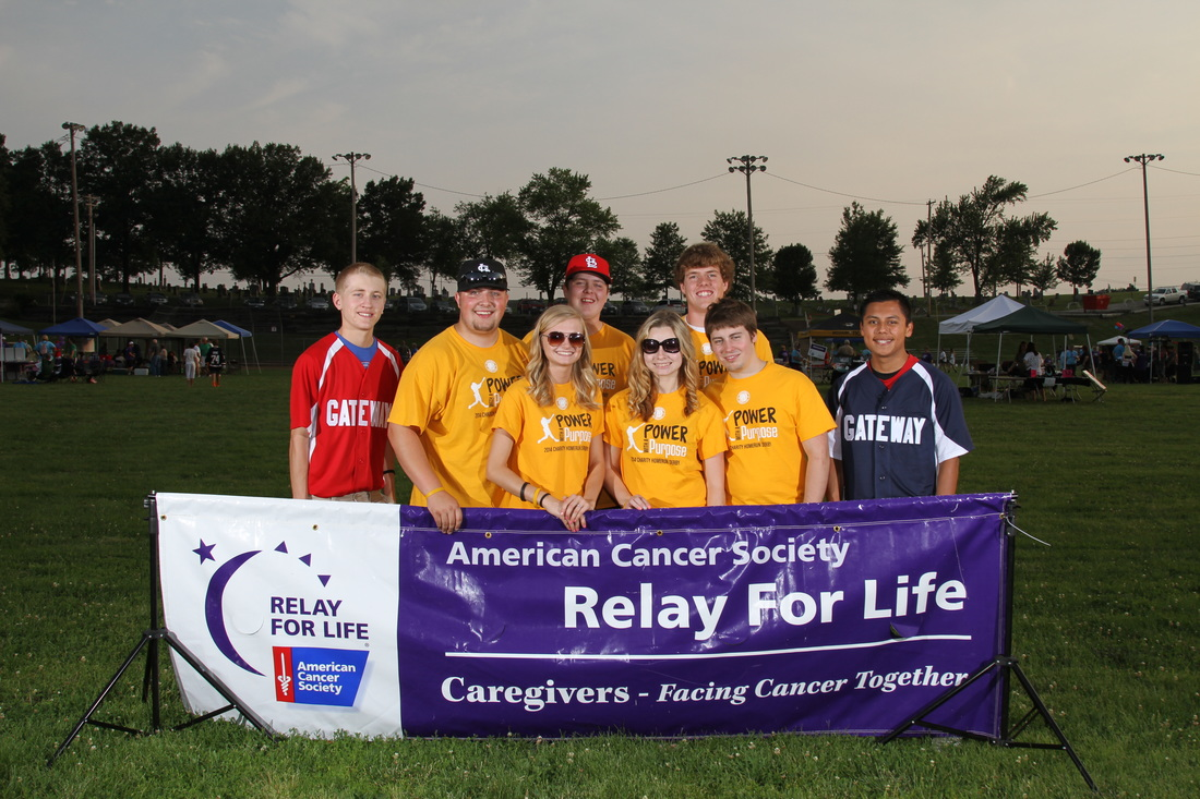 Gateway Baseball Club at the Relay for Life event, 2014
